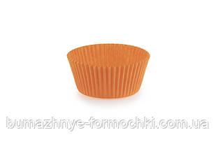 Оранжевые бумажные формочки для кексов и маффинов, 55х35 мм