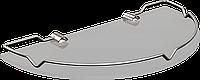 Полка стеклянная полукруглая с ограничителем Andex Classic,065cc