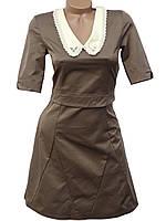Модное платье с воротничком (в расцветках 40-44), фото 1