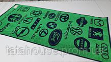 Полотенце махровое пляжное Авто (зеленый)
