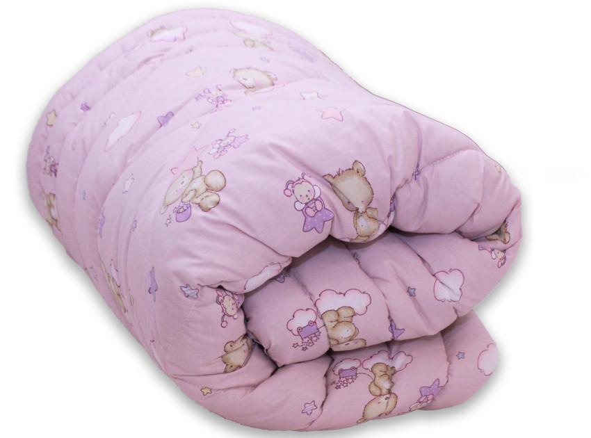 "Одеяло лебяжий пух ""Мишки розов."" 1.5-сп."