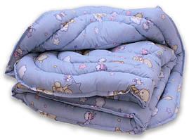 """Одеяло лебяжий пух """"Мишки син."""" 1.5-сп."""