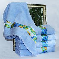 Полотенце махровое Весна голубое 70х140