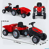 Трактор дитячий педальний Pilsan 07-316 з причепом, фото 2