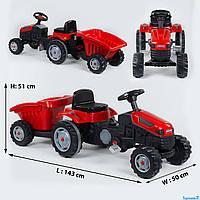 Трактор детский педальный Pilsan 07-316 с прицепом