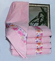 Рушник махровий Весна рожеве квіти 70х140