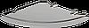Полка стеклянная угловая с ограничителем Andex Classic,070cc