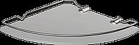 Полка стеклянная угловая с ограничителем 6мм Classic