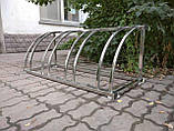 Велопарковка Graceful-4 из нержавейки на 4 места, фото 7