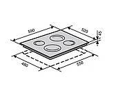 Стеклокерамическая поверхность VENTOLUX VB 60 TC WH белая, фото 3