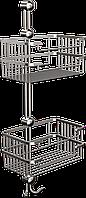 Полка металлическая (латунь) двойная Andex Classic, 071cc