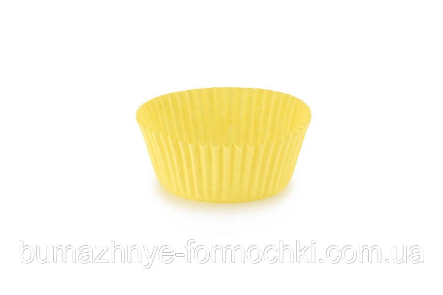 Бумажная формочка для кексов, жёлтая, 55*42.5 мм
