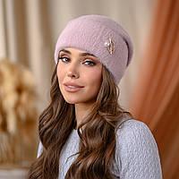 """Вязанная шапка """"Юлиана"""" цвет-розовый"""