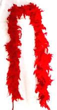 Боа из перьев красное 180 см