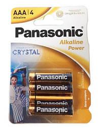 Мизинчиковые батарейки Panasonic AAA LR03 Alkaline Power, 1.5 В, 4 шт