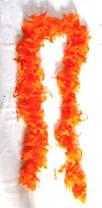 Боа из перьев оранжевое 180 см