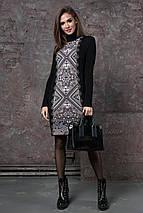 Теплое вязаное платье «Ольга», фото 2