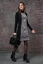 Теплое вязаное платье «Ольга», фото 3