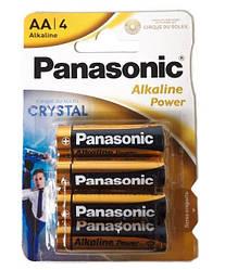 Пальчиковые батарейки Panasonic AA LR6 Alkaline Power, 1.5 В, 4 шт