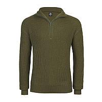 Пуловер Бундесмарине Brandit Marine Pullover XXL Оливковый 5019.1, КОД: 1381874
