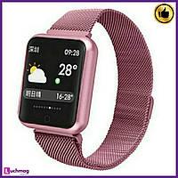 Умные часы, фитнес браслет Smart Z120 Pink
