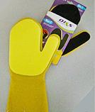 Рукавица силиконовая с губкой-скребком, фото 4