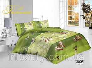 Двуспальный комплект постельного белья Зеленая Бабочка