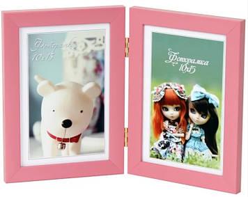 Фотоколаж 10х15 №2-9111 2в1 рожевий