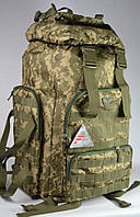 Рюкзак туристический FAVOR камуфляж пиксель на 75 литров, фото 1