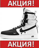 ✔️ Кроссовки мужские Nike Air Force 1 Special Field SF Mid High Black/White - Найк Аир Форс Высокие