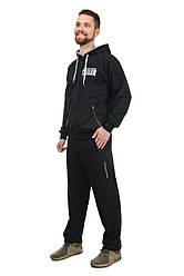 Мужской демисезонный трикотажный спортивный костюм на молнии с капюшоном Tailer (2091)