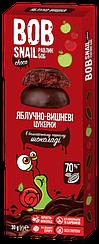 Конфеты натуральные в черном шоколаде Bob Snail вкус Яблоко-Вишня (30 грамм)
