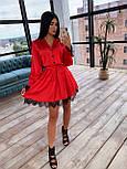 Шелковое платье с юбкой - солнце и разрезами на длинных рукавах 66031538Q, фото 4