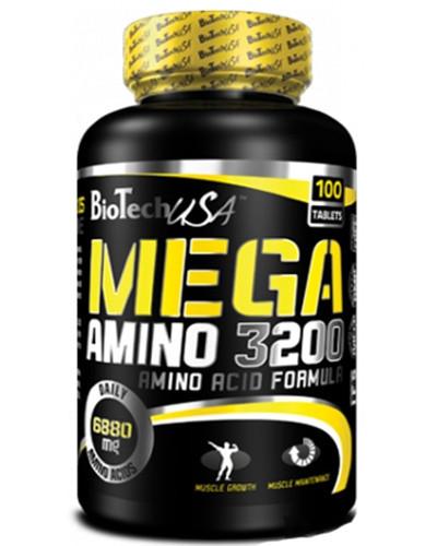 Амінокислотний комплекс BioTech Mega Amino 3200 (100 tabs)