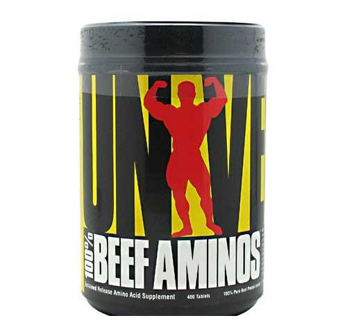 Амінокислотний комплекс Universal Nutrition 100% Beef Aminos (400 tab)