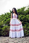 Довге бавовняне плаття з вставками мережива 63031540, фото 2