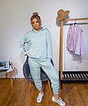 Спортивний костюм жіночий з об'ємним худі і штанами на манжетах 3051028, фото 2