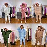 Спортивний костюм жіночий з об'ємним худі і штанами на манжетах 3051028, фото 4