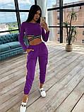 Женский спортивный костюм с топом с перекрутом и штанами с накладными карманами 66051036E, фото 4