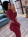 Женский спортивный костюм с топом с перекрутом и штанами с накладными карманами 66051036E, фото 8