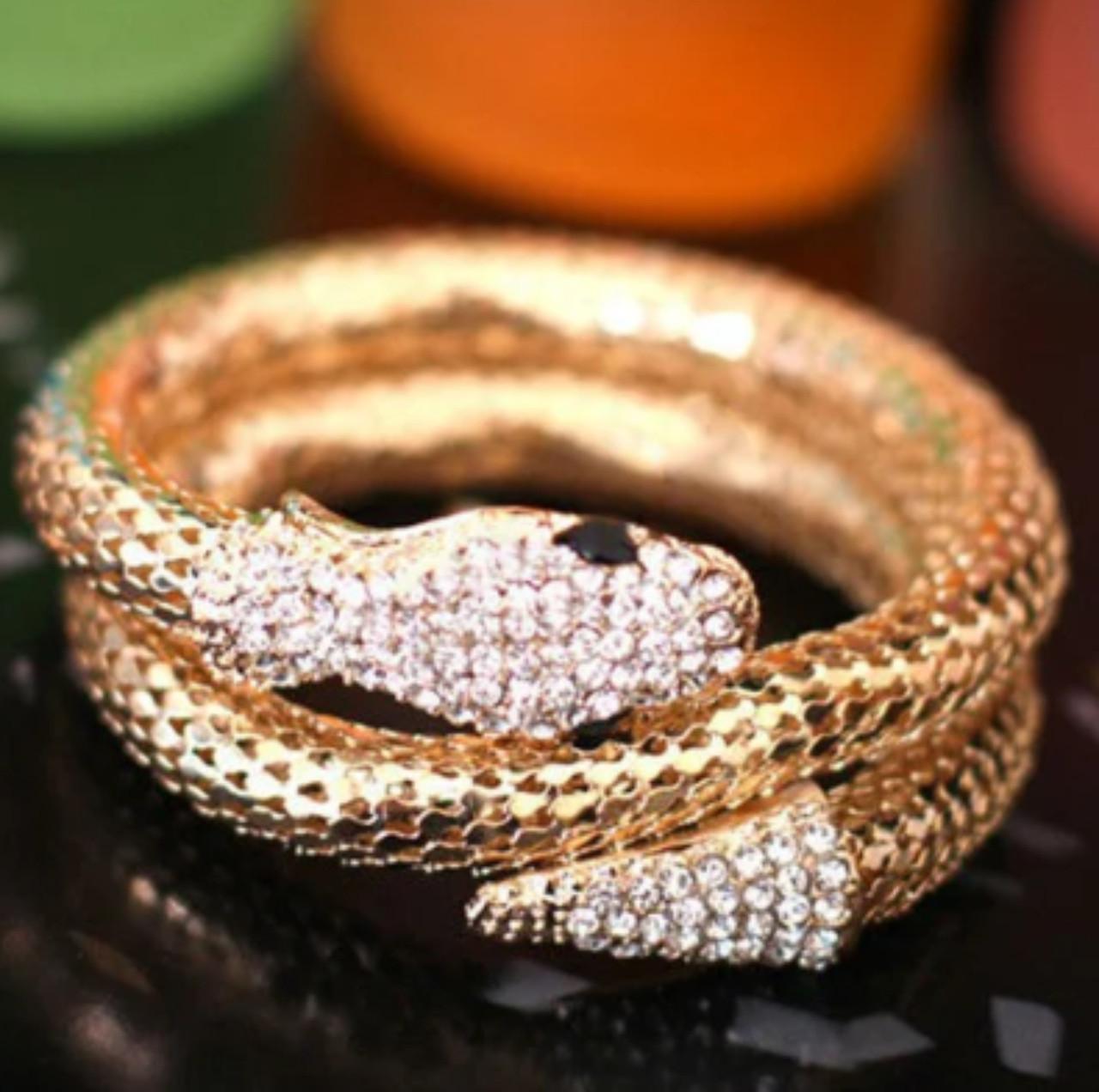 Женский браслет на руку Змея