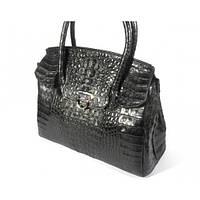 Женская сумка из кожи крокодила RIVER (BCM 185 black), фото 1
