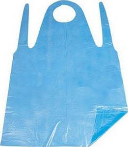 Фартук полиэтиленовый одноразовый Panni Mlada 0,8х1,25 м (100 шт.) синий