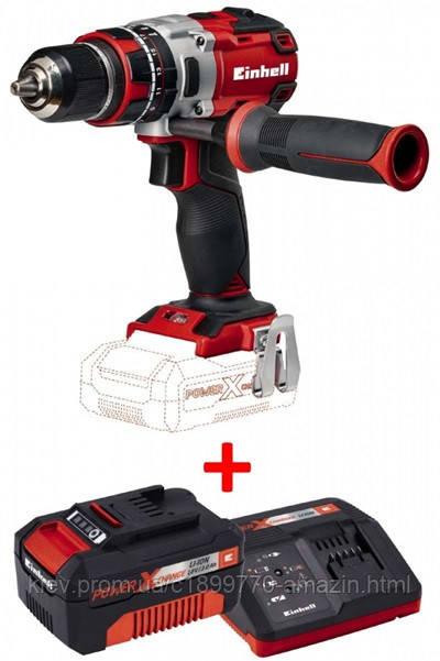 Набір ударний шуруповерт безщітковий Einhell TE-CD 18 Li-i Brushless - Solo + зарядний пристрій і акумулятор