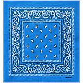 Бандана ковбойская голубая 020316-221