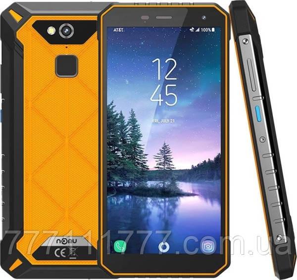 Смартфон защищенный с большим дисплеем и хорошей мощной батареей на 2 сим карты NOMU S50 Pro orange 4/64 NFC