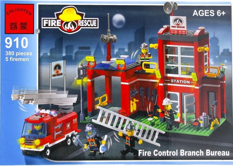 """Детский конструктор Brick 910 """"Пожарная охрана"""""""