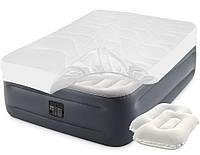 Надувная кровать Intex 64126-3, 152 х 203 х 46, встроенный электронасос, наматрасник, подушки. Двухспальная