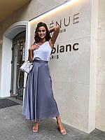 Длинная летняя юбка расклешенная в разных расцветках  63JU418, фото 1