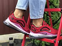 Жіночі кросівки Nike Air Max 720 бордові – підліткові демісезонні Найк Аір Макс 720, розміри 36-40